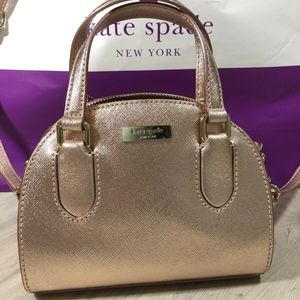 Kate Spade Micro Reiley  Rose Gold Crossbody bag